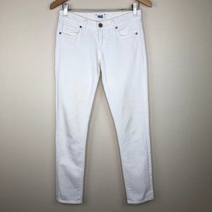 Anthro Paige Skyline Ankle Peg White Skinny Jeans